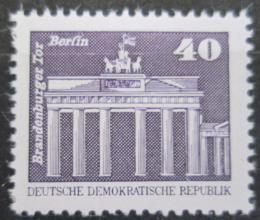 Poštovní známka DDR 1980 Brandenburská brána Mi# 2541