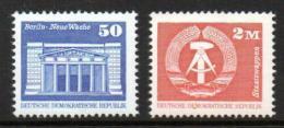Poštovní známky DDR 1980 Architektura a státní znak Mi# 2549-50