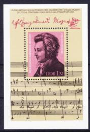 Poštovní známka DDR 1981 Wolfgang Amadeus Mozart Mi# Block 62