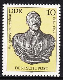 Poštovní známka DDR 1981 Heinrich von Stephan Mi# 2579