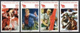 Poštovní známky DDR 1981 Umìní, sjezd SED Mi# 2595-98