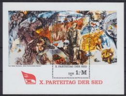 Poštovní známka DDR 1981 Umìní, sjezd SED Mi# Block 63