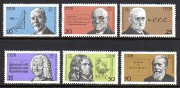 Poštovní známky DDR 1981 Osobnosti Mi# 2603-08