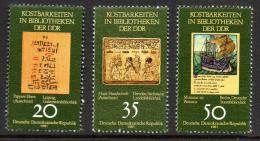 Poštovní známky DDR 1981 Poklady z knihoven Mi# 2636-38