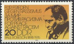 Poštovní známka DDR 1983 Paul Robeson, herec a zpìvák Mi# 2781
