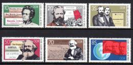 Poštovní známky DDR 1983 Karl Marx Mi# 2783-88
