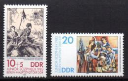 Poštovní známky DDR 1983 Umìní, výstava JUNIOR-SOZPHILEX Mi# 2812-13