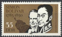 Poštovní známka DDR 1983 Simón Bolívar Mi# 2816