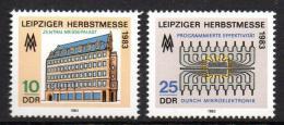 Poštovní známky DDR 1983 Lipský veletrh Mi# 2822-23
