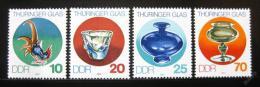 Poštovní známky DDR 1983 Výrobky ze skla Mi# 2835-38