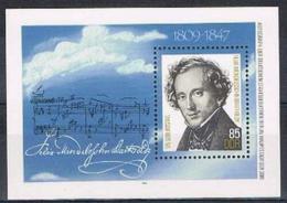 Poštovní známka DDR 1984 Felix Mendelssohn Bartholdy Mi# Block 76