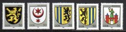 Poštovní známky DDR 1984 Mìstské znaky Mi# 2857-61