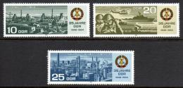 Poštovní známky DDR 1984 Vznik republiky, 35. výroèí Mi# 2893-95