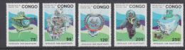 Poštovní známky Kongo 1993 Ponorky Mi# 1371-75 Kat 15€