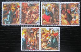 Poštovní známky Paraguay 1982 Život Krista, umìní Mi# 3568-73 Kat 7€