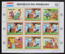 Poštovní známky Paraguay 1985 Román Tom Sawyer Mi# 3893 Bogen Kat 24€