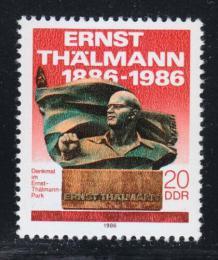 Poštovní známka DDR 1986 Ernst Thälmann Mi# 3014
