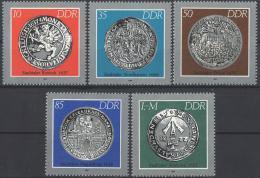 Poštovní známky DDR 1986 Staré mince Mi# 3040-44