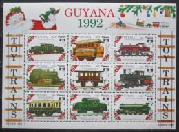 Poštovní známky Guyana 1992 Modely lokomotiv a vagónù Mi# 3898-3906