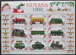 Poštovní známky Guyana 1992 Modely lokomotiv a vagónù Mi# 3907-15