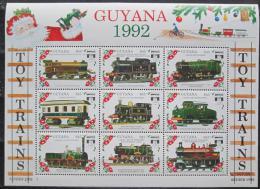 Poštovní známky Guyana 1992 Modely lokomotiv a vagónù Mi# 3934-42