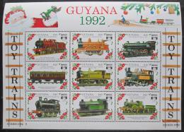 Poštovní známky Guyana 1992 Modely lokomotiv a vagónù Mi# 3943-51
