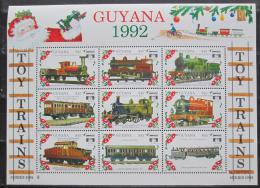 Poštovní známky Guyana 1992 Modely lokomotiv a vagónù Mi# 3952-60