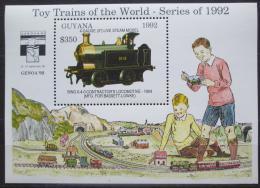 Poštovní známka Guyana 1992 Modely lokomotiv a vagónù Mi# Block 210 Kat 9.50€