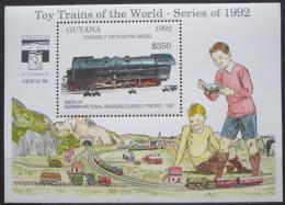 Poštovní známka Guyana 1992 Modely lokomotiv a vagónù Mi# Block 211 Kat 9.50€