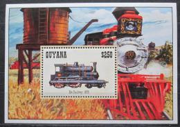 Poštovní známka Guyana 1994 Stará lokomotiva Mi# Block 442