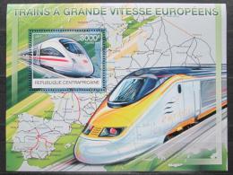 Poštovní známka SAR 2012 Moderní lokomotivy Mi# Block 980 Kat 14€
