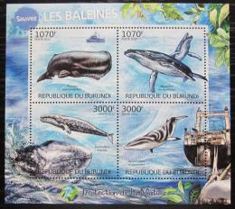 Poštovní známky Burundi 2012 Vorvaò obrovský Mi# 2605-08 Kat 9.50€
