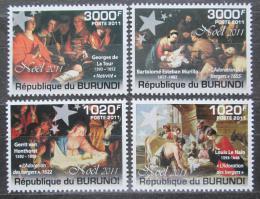 Poštovní známky Burundi 2011 Vánoce, umìní Mi# 2194-97 Kat 9.50€ - zvìtšit obrázek