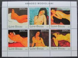 Poštovní známky Guinea-Bissau 2001 Umìní, Amadeo Modigliani Mi# 2561-66 Kat 13€