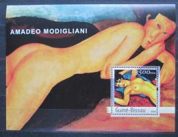 Poštovní známka Guinea-Bissau 2003 Umìní, Amadeo Modigliani Mi# Block 439 Kat 14€
