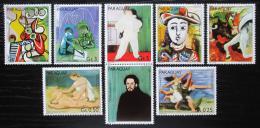 Poštovní známky Paraguay 1981 Umìní, Pablo Picasso s kupónem Mi# 3436-42 Kat 6.50€