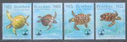 Poštovní známky Penrhyn 1995 Kareta obecná, WWF Mi# 579-82 Kat 13€