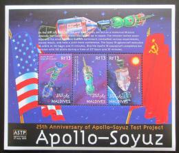 Poštovní známky Maledivy 2000 Prùzkum vesmíru Mi# 3521-23 Kat 12€