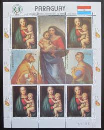 Poštovní známky Paraguay 1982 Umìní, Raffael, vánoce Mi# 3559 Bogen Kat 19€