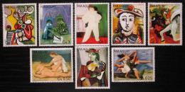 Poštovní známky Paraguay 1981 Umìní, Picasso s kupónem Mi# 3436-42 Kat 6.50€