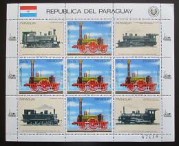 Poštovní známky Paraguay 1985 Nìmecké lokomotivy Mi# 3904 Bogen Kat 30€