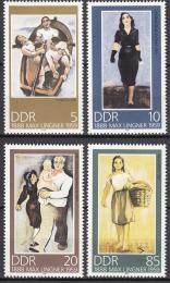 Poštovní známky DDR 1988 Umìní, Max Lingner Mi# 3209-12