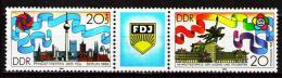 Poštovní známky DDR 1989 Mezinárodní hry mládeže Mi# 3248-49