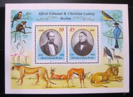 Poštovní známky DDR 1989 Alfred Edmund a Christian Ludwig Brehm Mi# Block 98