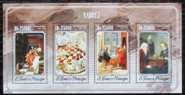 Poštovní známky Svatý Tomáš 2014 Šachy a umìní Mi# 5935-38 Kat 10€