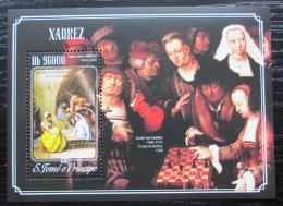 Poštovní známka Svatý Tomáš 2014 Šachy a umìní Mi# Block 1043 Kat 10€