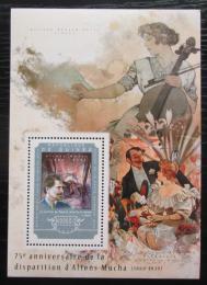 Poštovní známka Guinea 2014 Umìní, Alfons Mucha Mi# Block 2460 Kat 16€