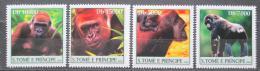 Poštovní známky Svatý Tomáš 2004 Gorily Mi# 2613-16 Kat 12€