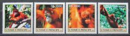Poštovní známky Svatý Tomáš 2004 Orangutani Mi# 2609-12 Kat 12€