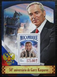 Poštovní známka Mosambik 2013 Garri Kasparov, šachy Mi# Block 848 Kat 10€
